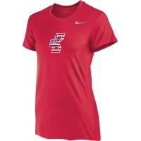 Bat Company 15: Nike Women's Legend Short-Sleeve Training Top - Scarlet Red