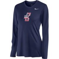 Bat Company 18: Nike Women's Legend Long-Sleeve Training Top - Navy Blue