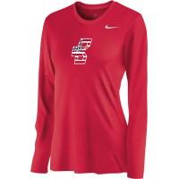 Bat Company 21: Nike Women's Legend Long-Sleeve Training Top - Scarlet Red