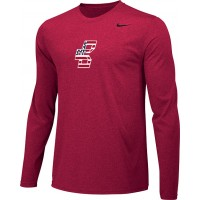 Bat Company 19: Adult-Size - Nike Team Legend Long-Sleeve Crew T-Shirt - Scarlet Red