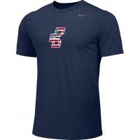 Bat Company 10: Adult-Size - Nike Team Legend Short-Sleeve Crew T-Shirt - Navy Blue