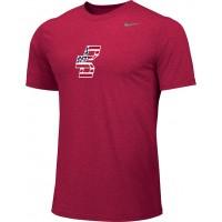 Bat Company 13: Adult-Size - Nike Team Legend Short-Sleeve Crew T-Shirt - Scarlet Red
