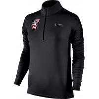 Bat Company 37: Nike Element Women's Long Sleeve Running Half-Zip Top - Black