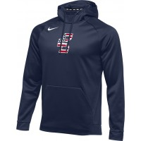Bat Company 34: Nike Therma Men's Training Hoodie - Navy Blue