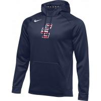 Bat Company 34: Nike Therma Men's Training Hoodie - Navy Blue