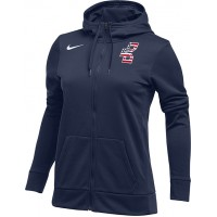 Bat Company 35: Nike Women's Therma All-Time Hoody Full Zip - Navy Blue