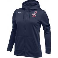 Bat Company 35: Nike Women's Therma All-Time Hoody Full Zip - Navy Blue